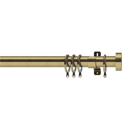 Swish Elements 35mm Stud Antique Brass Curtain Pole - 240cm