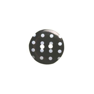 Hemline Black Polka Dot Buttons 17.5mm 4pk