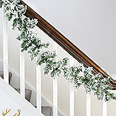 2.7m Artificial Snowy Christmas Garland
