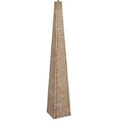 Stylish Rattan Pyramid Floor Lamp Base Only Antique Cream Wash