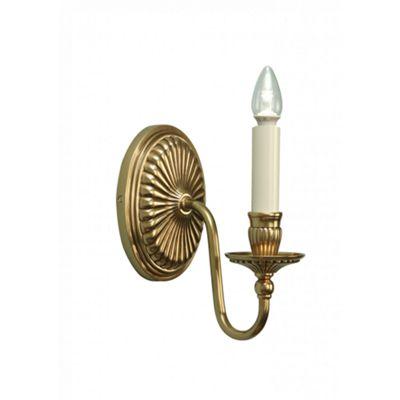 Wall Light - Solid mellow brass & gloss ivory paint