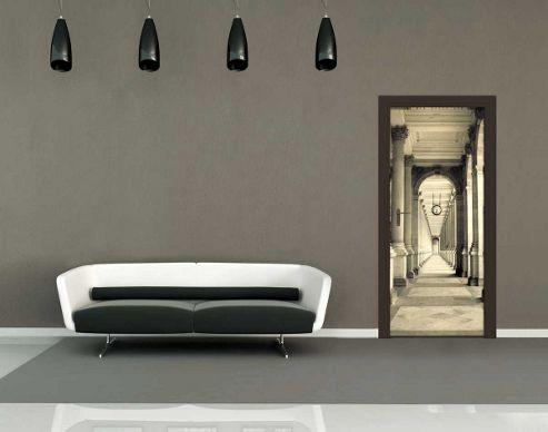 1Wall Collonade Corridor Door Mural