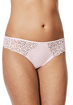 F&F Floral Lace Trim Thong - Pink