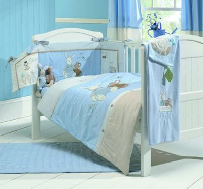 East Coast Country Kisses Boy Bedding Set, Baby, Blue.