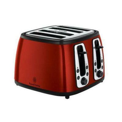 Russell Hobbs Heritage 4 Slice Toaster - Red