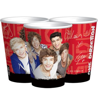 One Direction Cups - 250ml 1D Paper Party Cups