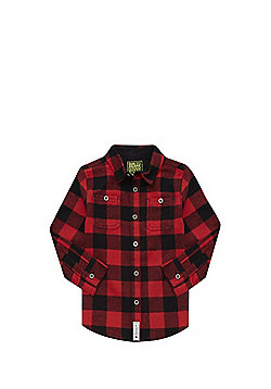 F&F Buffalo Check Flannel Shirt - Red