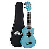 Blue Beginner Soprano Ukulele & Bag