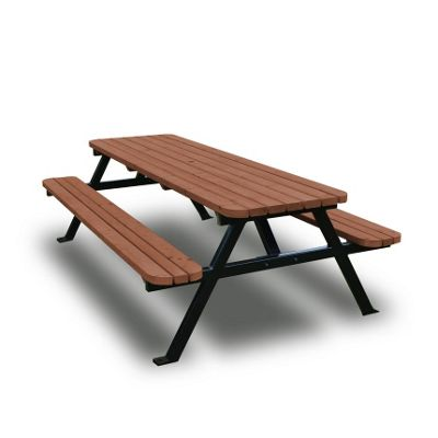 Oakham steel rounded picnic bench - 4ft