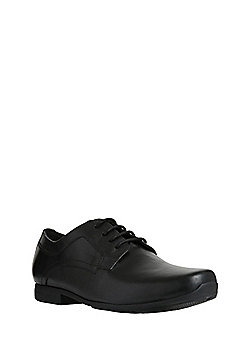 F&F Leather Lace-Up School Shoes - Black