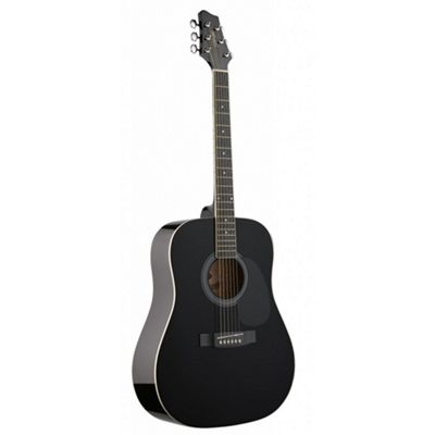 Stagg SW201 Dreadnought Guitar - Black