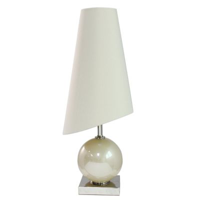 Pearl Large Table Lamp with Porcelain slanted shade