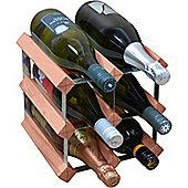 Harbour Housewares 6 Bottle Wine Rack - Fully Assembled - Dark Wood