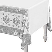 Sparkling Snowflake Paper Tablecover - 2.59m