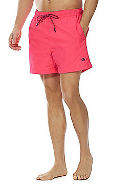 F&F Neon Palm Patch Swim Shorts - Neon Pink