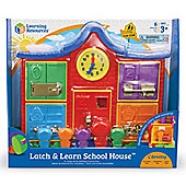 Learning Resources Latch and Learn School House