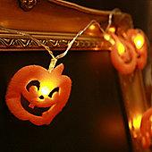 10 Halloween Pumpkin Battery LED Fairy Lights