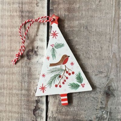 Nordic Wooden Tree Decoration