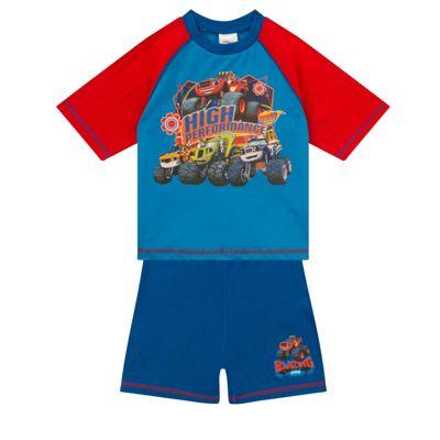 Blaze And The Monster Machines Boys Short Pyjamas Blue 12-18 Months