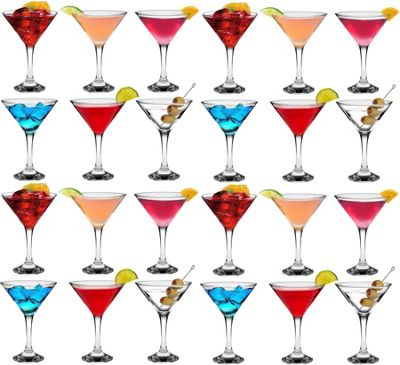 Rink Drink Martini Cocktail Glasses - 175ml (6oz) Gift Box Of 24