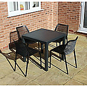 Brackenstyle Madrid Table and 4 Black Orion Chairs - Seats 4