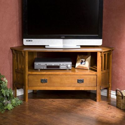 Southern Enterprises Barklay Corner TV Stand