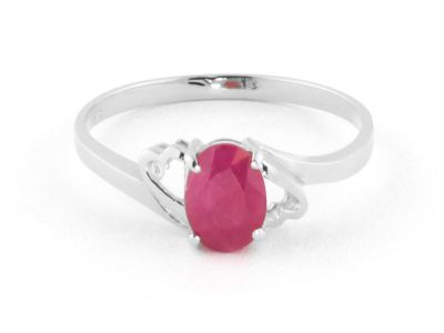 QP Jewellers 1.15ct Ruby Classic Desire Ring in 14K White Gold - Size Y 1/2