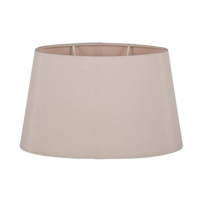 25cm Taupe Oval Ellipse Polysilk Tapered Shade
