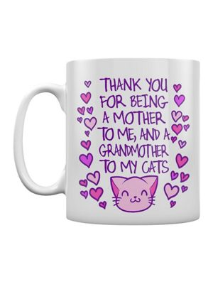 Mother To Me, Grandmother To My Cats 10oz White Ceramic Mug