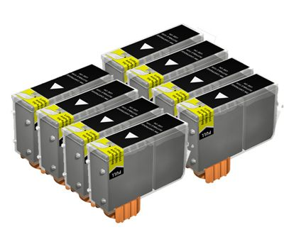 MoreInks 8 Ink Cartridges For Canon Multipass C600 - Black