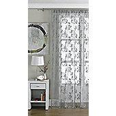 Vintage Pewter Lace Panel Curtain W145cm x H137cm