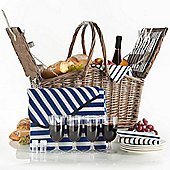 VonShef 4 Person Folding Handle Picnic Basket