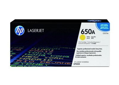 HP 650A (CE272A) Yellow Original LaserJet Toner Cartridge CE272A
