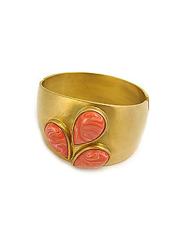 Lucas Jack Red Coral Droplet Cuff