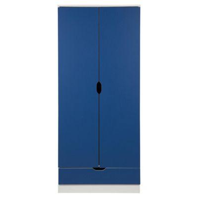 Jasper 2 Door Wardrobe, White/Blue