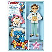 Melissa & Doug Julia Magnetic Wooden Dress-Up Doll