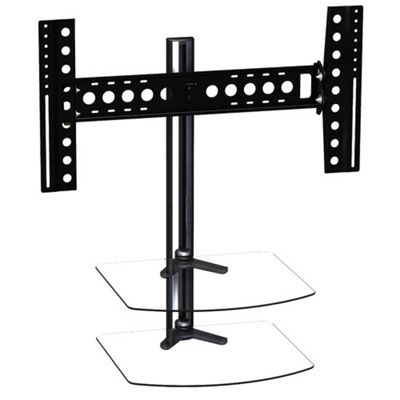 AVF 60 Inch All in One Tilt & Turn TV Wall mount with AV shelving - Black