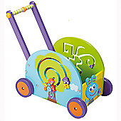 Boikido Push & Pull Rabbit Wagon