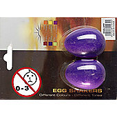 A-Star Egg Shakers Pair - Purple