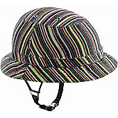 YAKKAY Tokyo Colour Stripe Helmet: Medium (55-57cm).