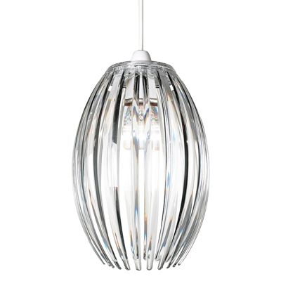 Dorney Non Electric 60W Ceiling Pendant Light Clear Acrylic