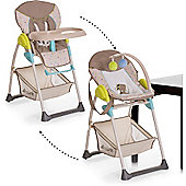Hauck Sit n Relax 2-in1 Highchair/Bouncer (Multi Dots Sand)