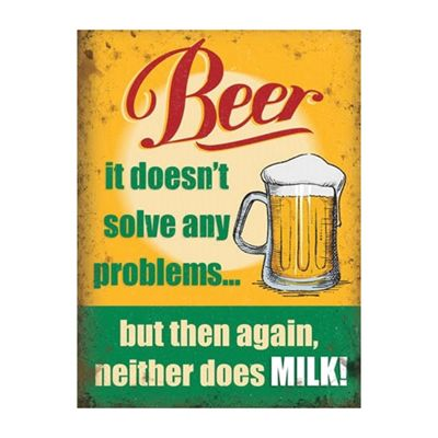 Alcohol Doesn't Solve Any Problems Large Metal Sign - 30x40cm
