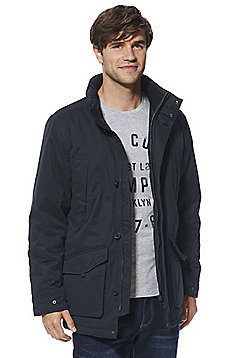 F&F Shower Resistant Parka - Navy