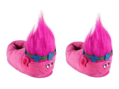 buy trolls 39 poppy 39 3d slippers pink footwear from our kids. Black Bedroom Furniture Sets. Home Design Ideas