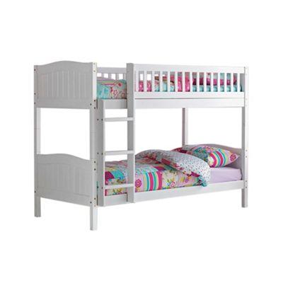 Buy Comfy Living 3ft Single Children S Premium Bunk Bed In White