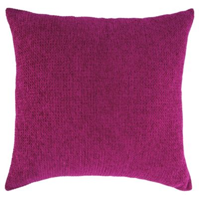 Texture Chenille Cushion, Shocking Pink