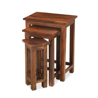 Maharajah Indian Rosewood Tall Nest of 3 Tables