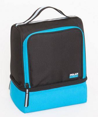 Polar Gear 2 Compartment Lunch Cool Bag Turquoise Blue