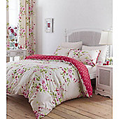 Catherine Lansfield Canterbury Super King Quilt Cover Set - - Red